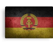 East Germany Flag Grunge Canvas Print