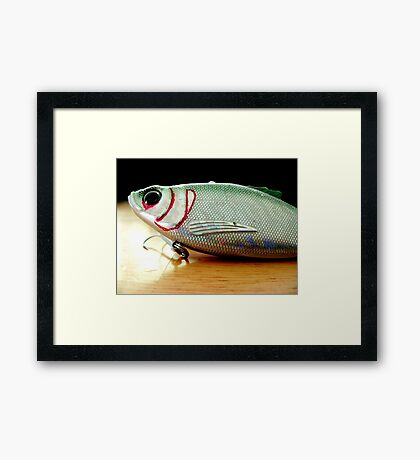 Marker Enhanced Crankbait Framed Print