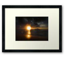 Atmospheric sunset Framed Print