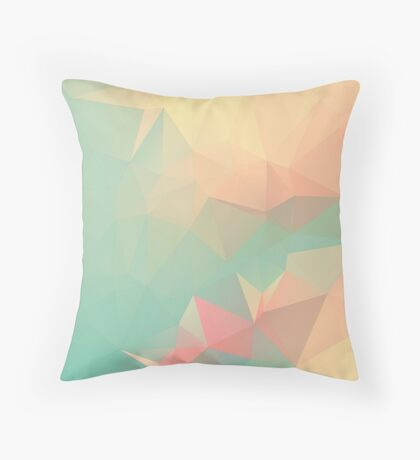 PEACH AND MINT LOWPOLY Throw Pillow