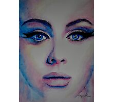 Adele in watercolor painting Photographic Print