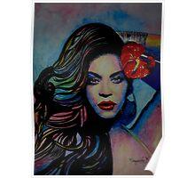 Beyoncé in watercolor painting Poster