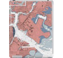 Boston Harbor Map iPad Case/Skin