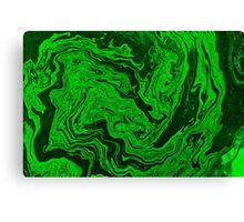 Green Fluid Canvas Print