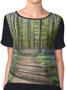 Violet Forest - Nature Photography Chiffon Top