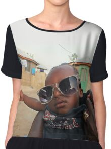 Cool African Boy from Ghana, West Africa Chiffon Top