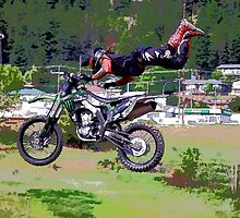 FMX Motocross Freestyle Stunt Rider by NaturePrints