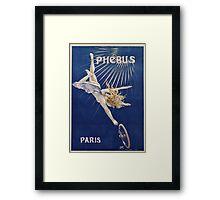 Vintage famous art - Henri Gray - Phebus Paris Poster Framed Print