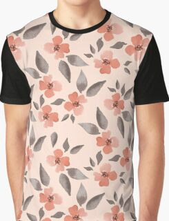 Blossom. Watercolor floral background. Seamless pattern Graphic T-Shirt