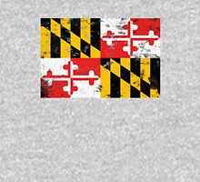 Distressed Maryland State Flag Design Unisex T-Shirt