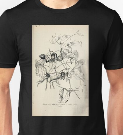 Southern wild flowers and trees together with shrubs vines Alice Lounsberry 1901 057 Leather Flower Unisex T-Shirt