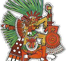 Mayan God Tezcatlipoca by RiverbyNight