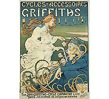 Vintage famous art - Henri Thiriet - Cycles Et Accessoires Griffiths Poster Photographic Print