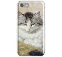 Vintage famous art - Henriette Ronner - A Cat iPhone Case/Skin