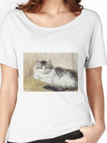 Vintage famous art - Henriette Ronner - A Cat Women's Relaxed Fit T-Shirt