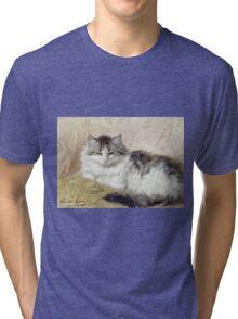 Vintage famous art - Henriette Ronner - A Cat Tri-blend T-Shirt