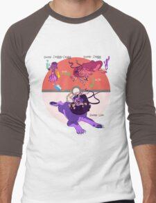Fire & Grass Type Men's Baseball ¾ T-Shirt