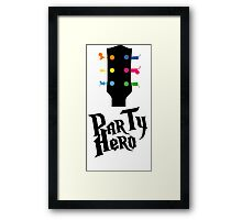 party hero Framed Print