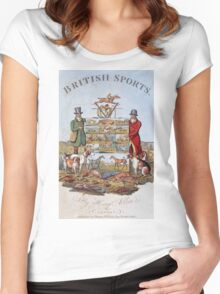 Vintage famous art - Henry Alken - The National Sports Of Great Britain Women's Fitted Scoop T-Shirt