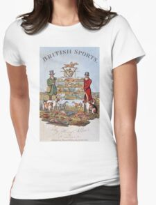 Vintage famous art - Henry Alken - The National Sports Of Great Britain Womens Fitted T-Shirt