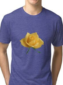 Beautiful yellow rose Tri-blend T-Shirt