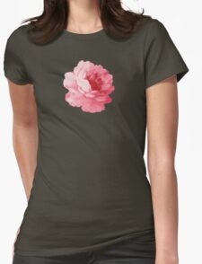 Flower pink peony Womens Fitted T-Shirt
