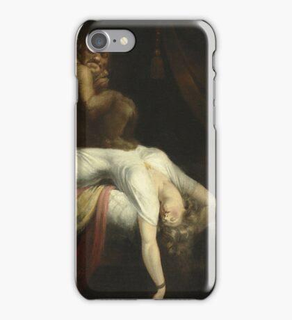Vintage famous art - Henry Fuseli - The Nightmare 1781  iPhone Case/Skin