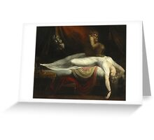 Vintage famous art - Henry Fuseli - The Nightmare 1781  Greeting Card