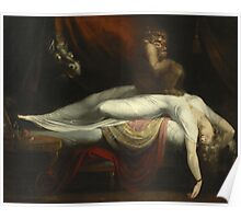 Vintage famous art - Henry Fuseli - The Nightmare 1781  Poster