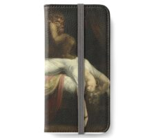Vintage famous art - Henry Fuseli - The Nightmare 1781  iPhone Wallet/Case/Skin