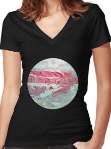Intervertebral Disc Women's Fitted V-Neck T-Shirt