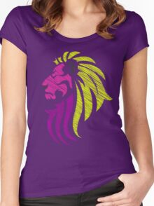 Neon Lion - Neon Colors Women's Fitted Scoop T-Shirt