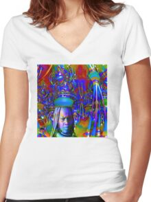 Magic Hat Women's Fitted V-Neck T-Shirt