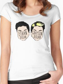 Dolan Twins (Ethan Dolan & Grayson Dolan) Women's Fitted Scoop T-Shirt