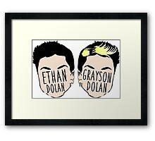 Dolan Twins (Ethan Dolan & Grayson Dolan) Framed Print