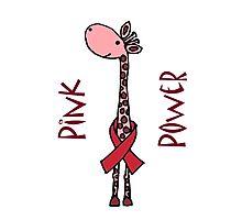 Funny Cool pink Giraffe Pink Power Cartoon Photographic Print