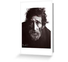 Homeless Man 4 Greeting Card