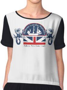 Shipbuilders Crest Chiffon Top