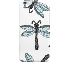 Insect dragon-fly on the gray background iPhone Case/Skin
