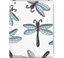 Insect dragon-fly on the gray background iPad Case/Skin