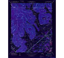 USGS TOPO Map Alabama AL Doran Cove 303697 1950 24000 Inverted Photographic Print