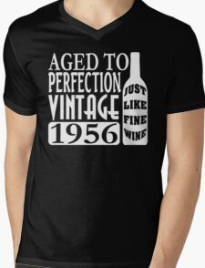 1956 Aged To Perfection Mens V-Neck T-Shirt