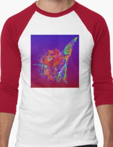Alien Sea Creature Men's Baseball ¾ T-Shirt