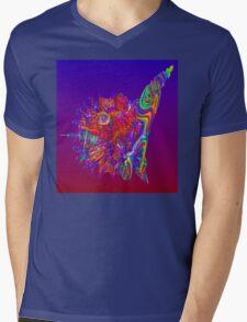 Alien Sea Creature Mens V-Neck T-Shirt