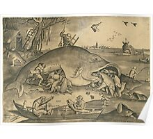 Hieronymus Bosch - The Big Fish Eat The Little Fish 1557 Poster