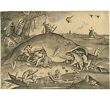 Hieronymus Bosch - The Big Fish Eat The Little Fish 1557 Photographic Print