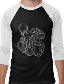 Octopus White Line Art Men's Baseball ¾ T-Shirt