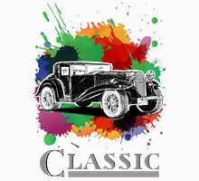 Vintage Retro Classic Old Car with colorful ink Unisex T-Shirt