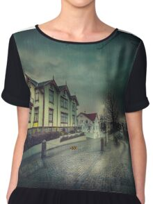 Silent Night Street Chiffon Top