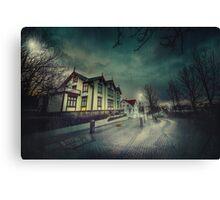 Silent Night Street Canvas Print